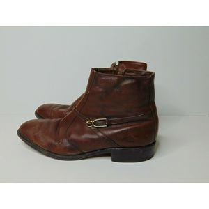 Allen Edmonds Brown Leather Ankle Boots 8.5 D Zip